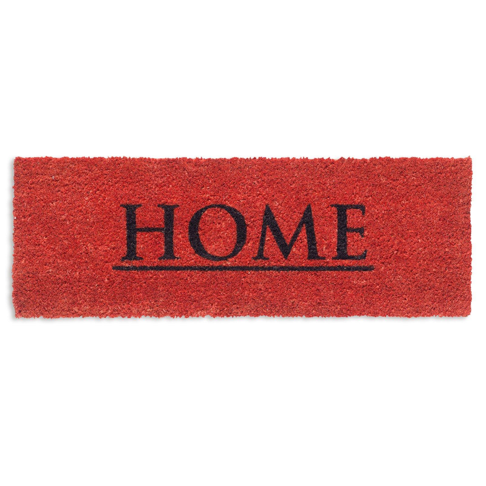 fu matte home rot 26x75 cm fu matten flur diele. Black Bedroom Furniture Sets. Home Design Ideas
