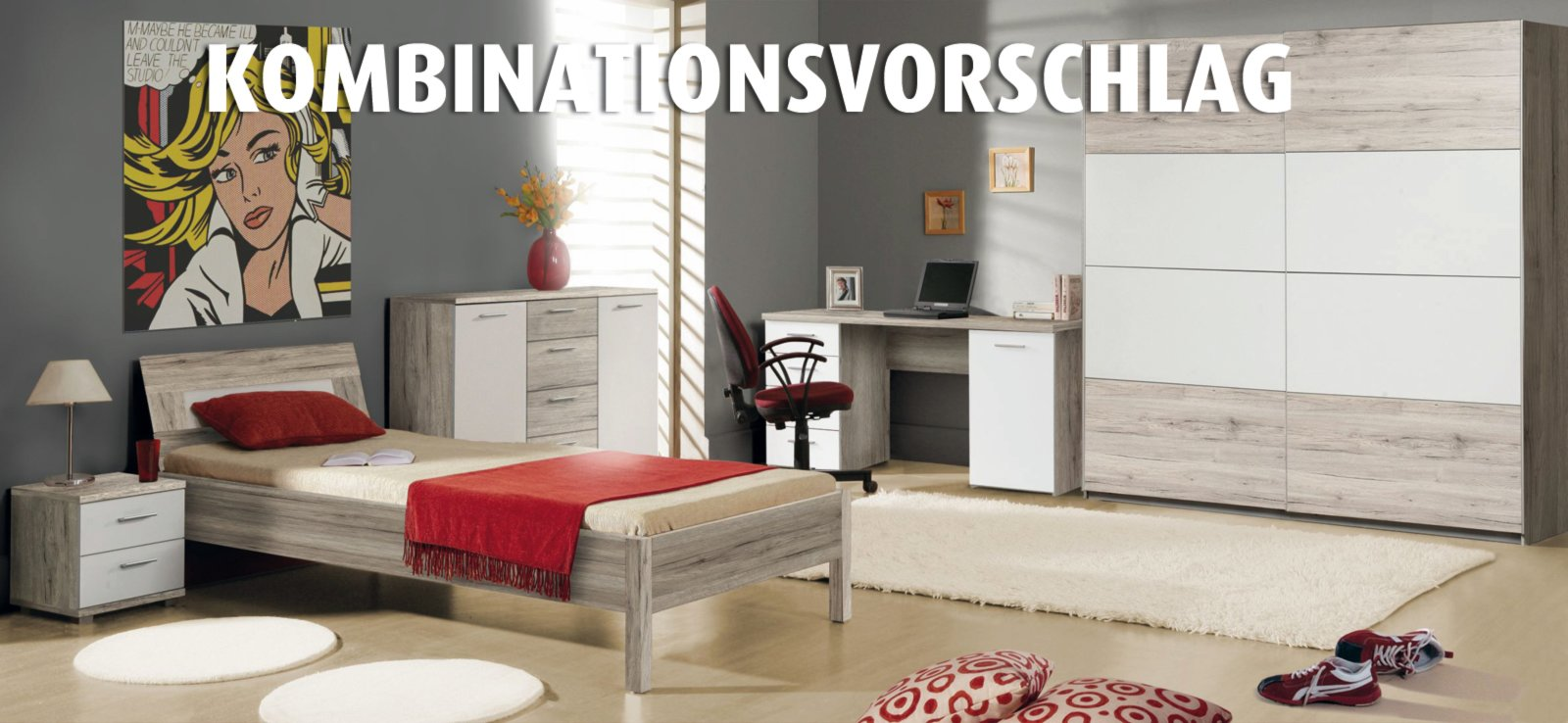 schwebet renschrank beach sandeiche wei 220 cm breit ebay. Black Bedroom Furniture Sets. Home Design Ideas