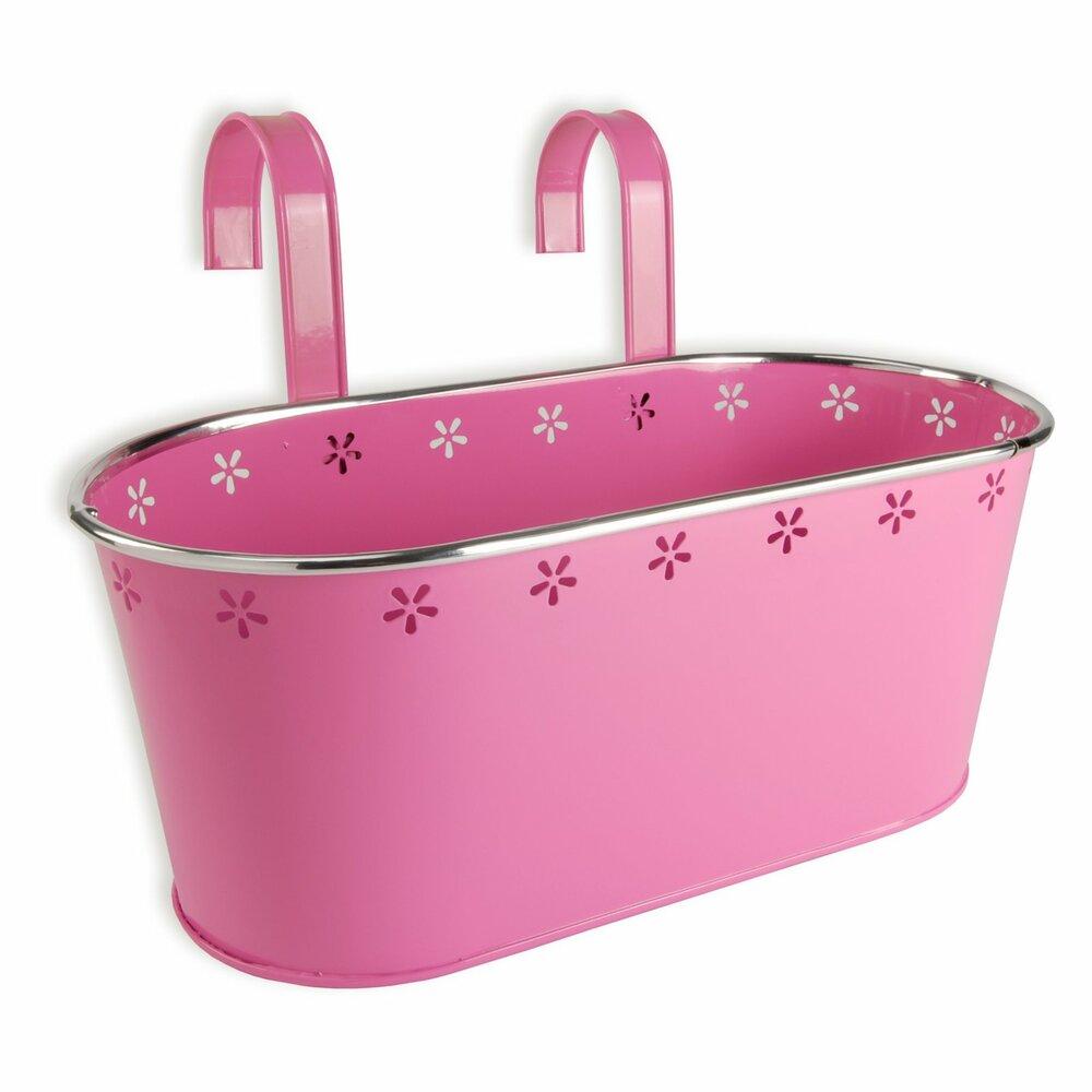 blumenkasten pink 32 cm blument pfe pflanzgef e gartenm bel balkon m belhaus roller. Black Bedroom Furniture Sets. Home Design Ideas