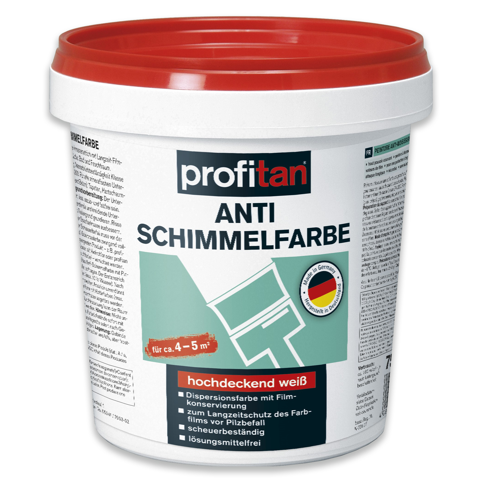 profitan Anti-Schimmelfarbe - weiß - 19 ml