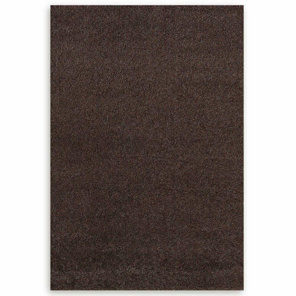 hochflor teppich shaggy braun 200x290 cm hochflor shaggyteppiche teppiche l ufer. Black Bedroom Furniture Sets. Home Design Ideas