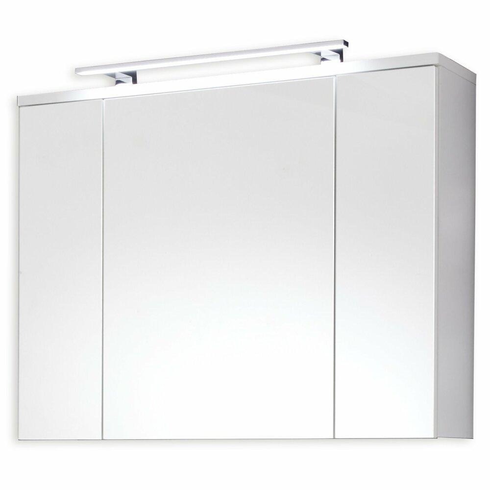 spiegelschrank adamo wei hochglanz mit beleuchtungangebot. Black Bedroom Furniture Sets. Home Design Ideas