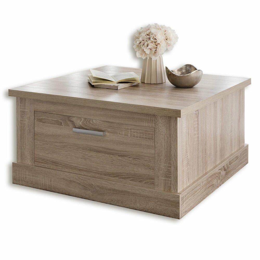 roller couchtisch universal sonoma eiche hell 85 cm breit eur 119 99 picclick de. Black Bedroom Furniture Sets. Home Design Ideas