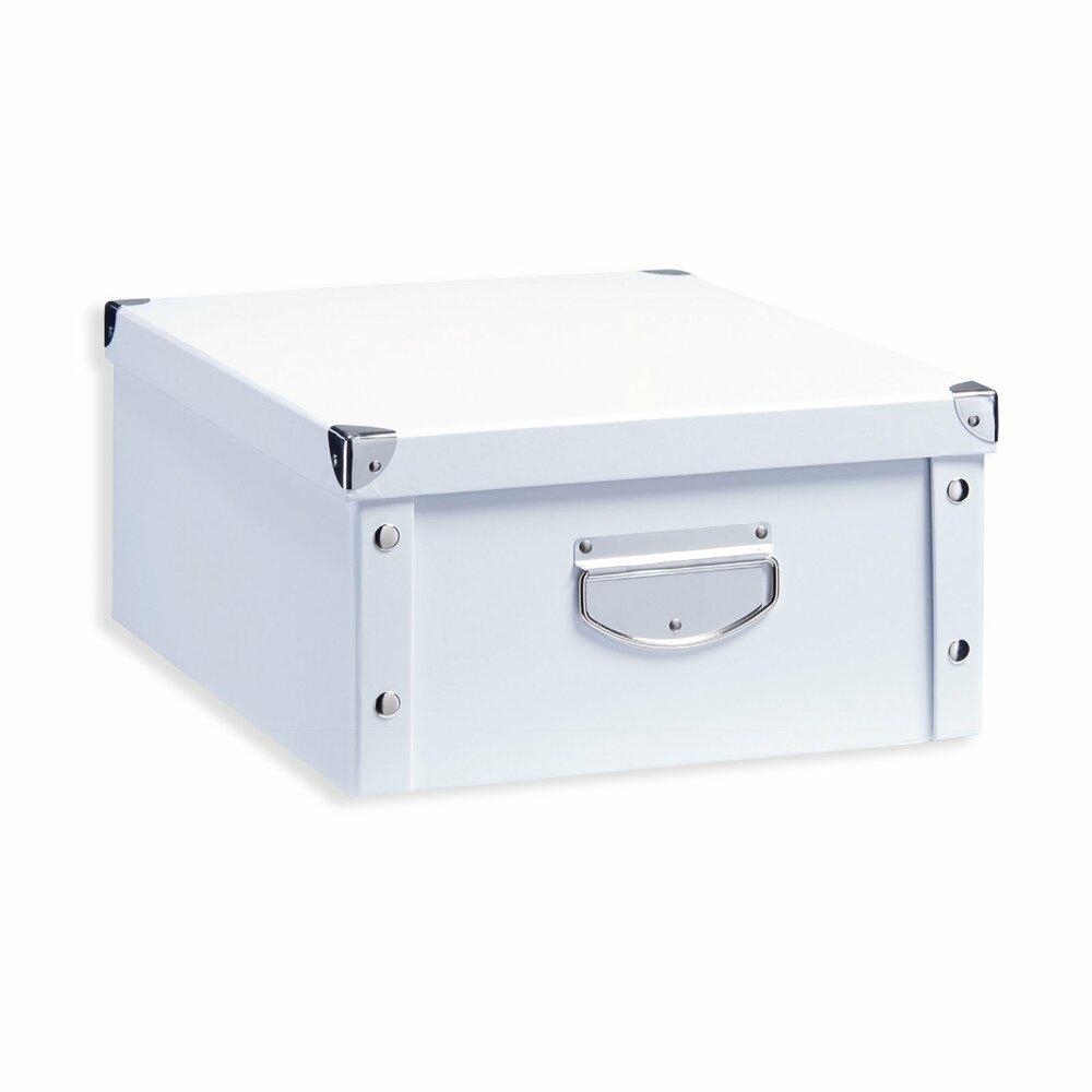 aufbewahrungsbox wei pappe gr e m dekorative boxen k rbe boxen k rbe deko. Black Bedroom Furniture Sets. Home Design Ideas