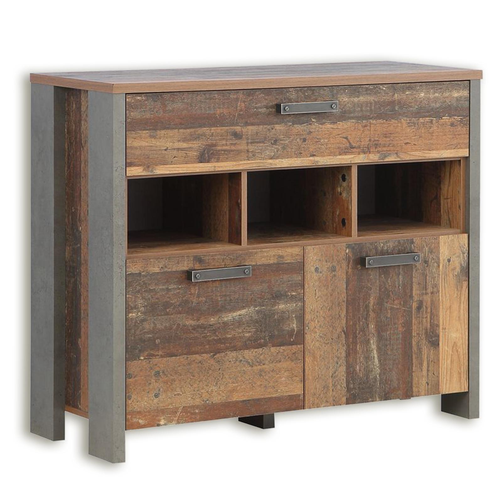 Kommode - Old Wood Vintage - 2 Türen - 107 cm breit