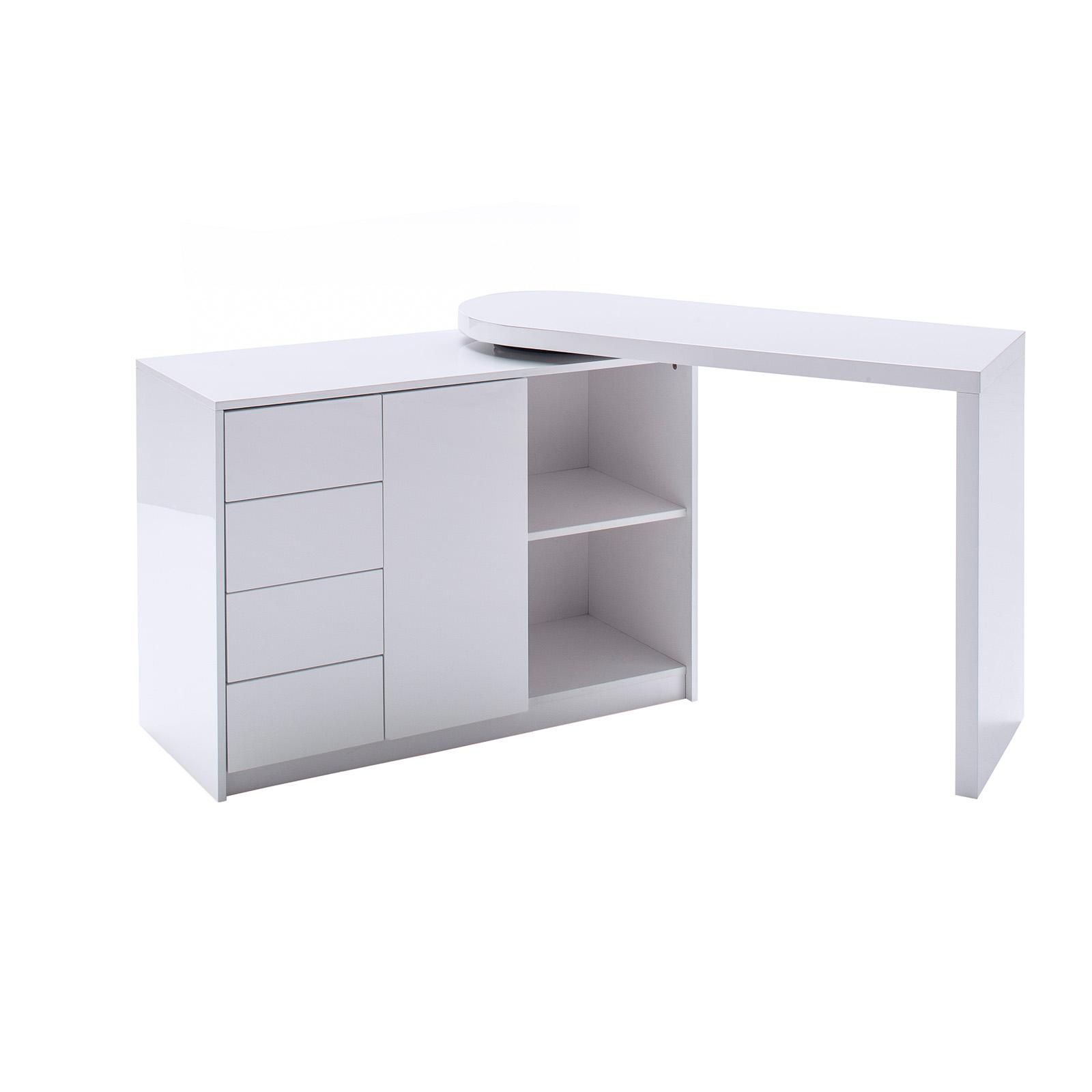 Schreibtisch Weiss Hochglanz Schwenkbar Online Bei Roller Kaufen