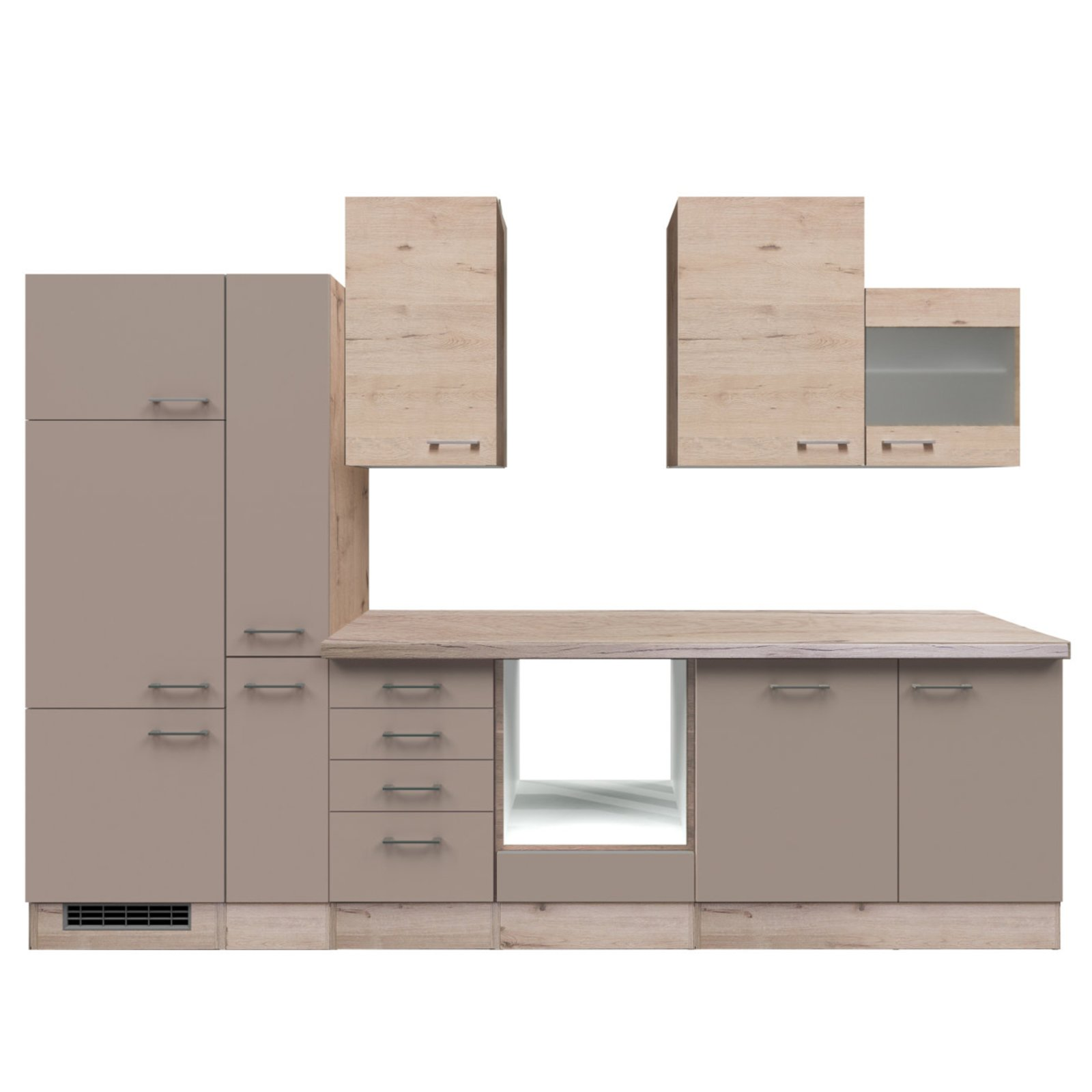 k chenblock riva quarz cubanit san remo eiche 310 cm. Black Bedroom Furniture Sets. Home Design Ideas
