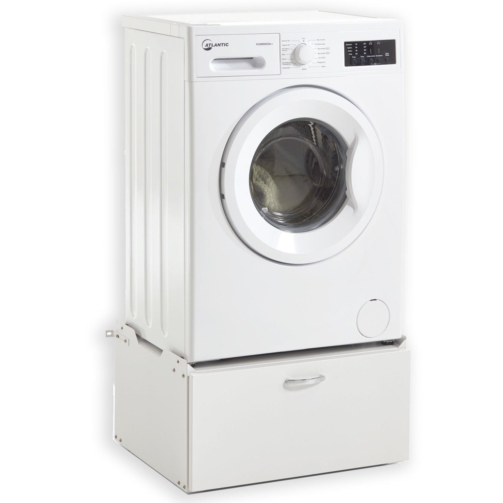Waschmaschinen-Unterschrank HOMY CASA - Metall - weiß ...