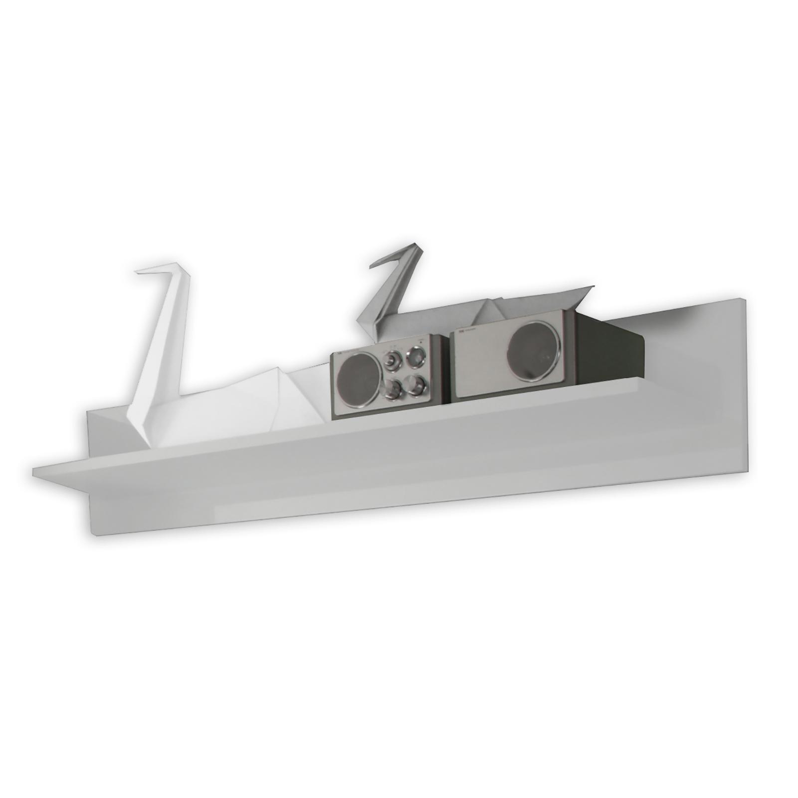 Wandboard - weiß Hochglanz - 139 cm