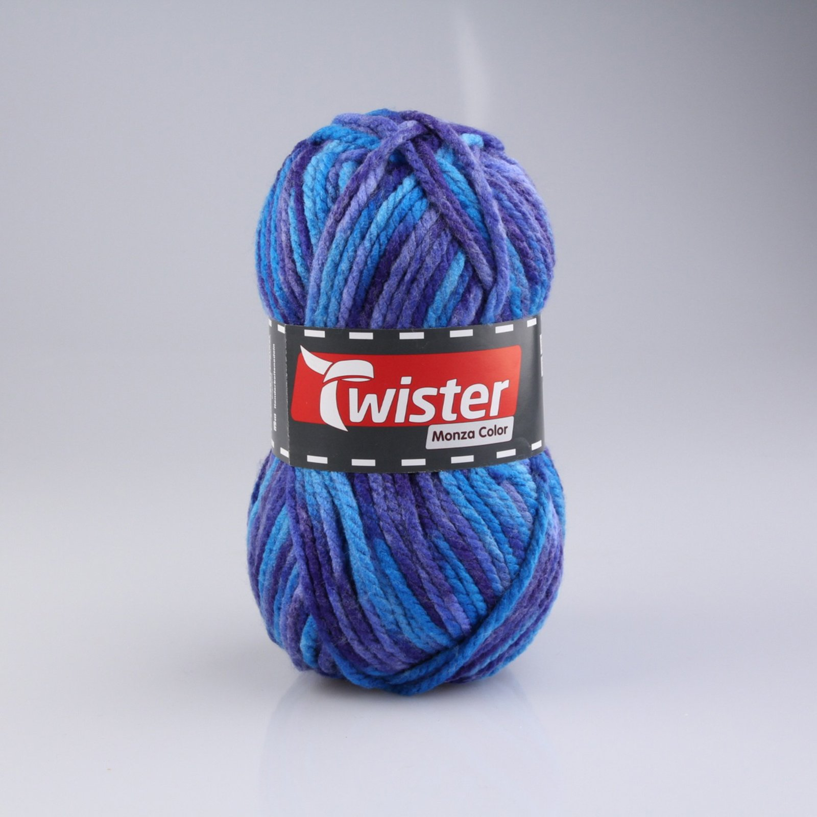 Wolle TWISTER MONZA COLOR - blau-rost-braun - 200g