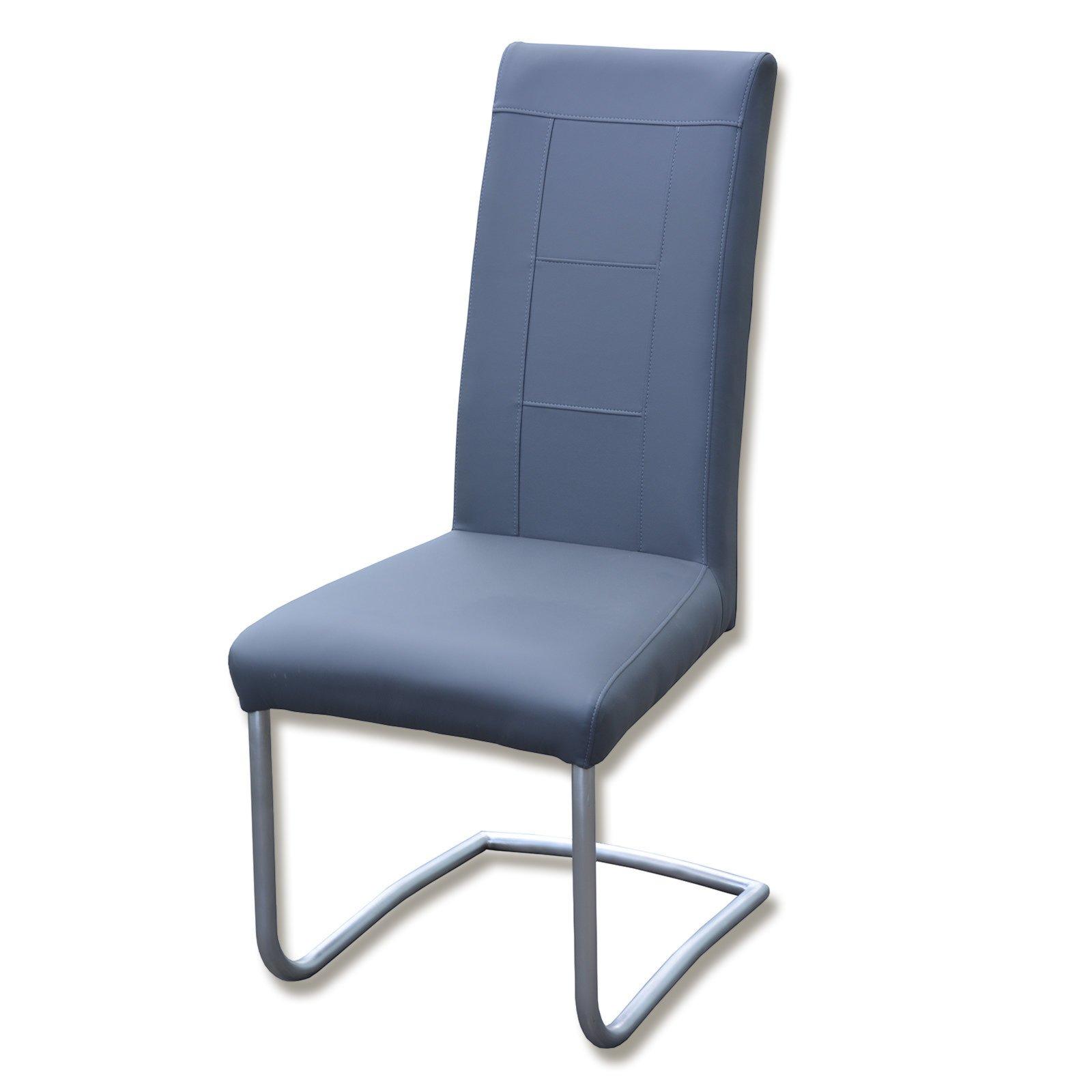 freischwinger axel graublau kunstleder freischwinger. Black Bedroom Furniture Sets. Home Design Ideas
