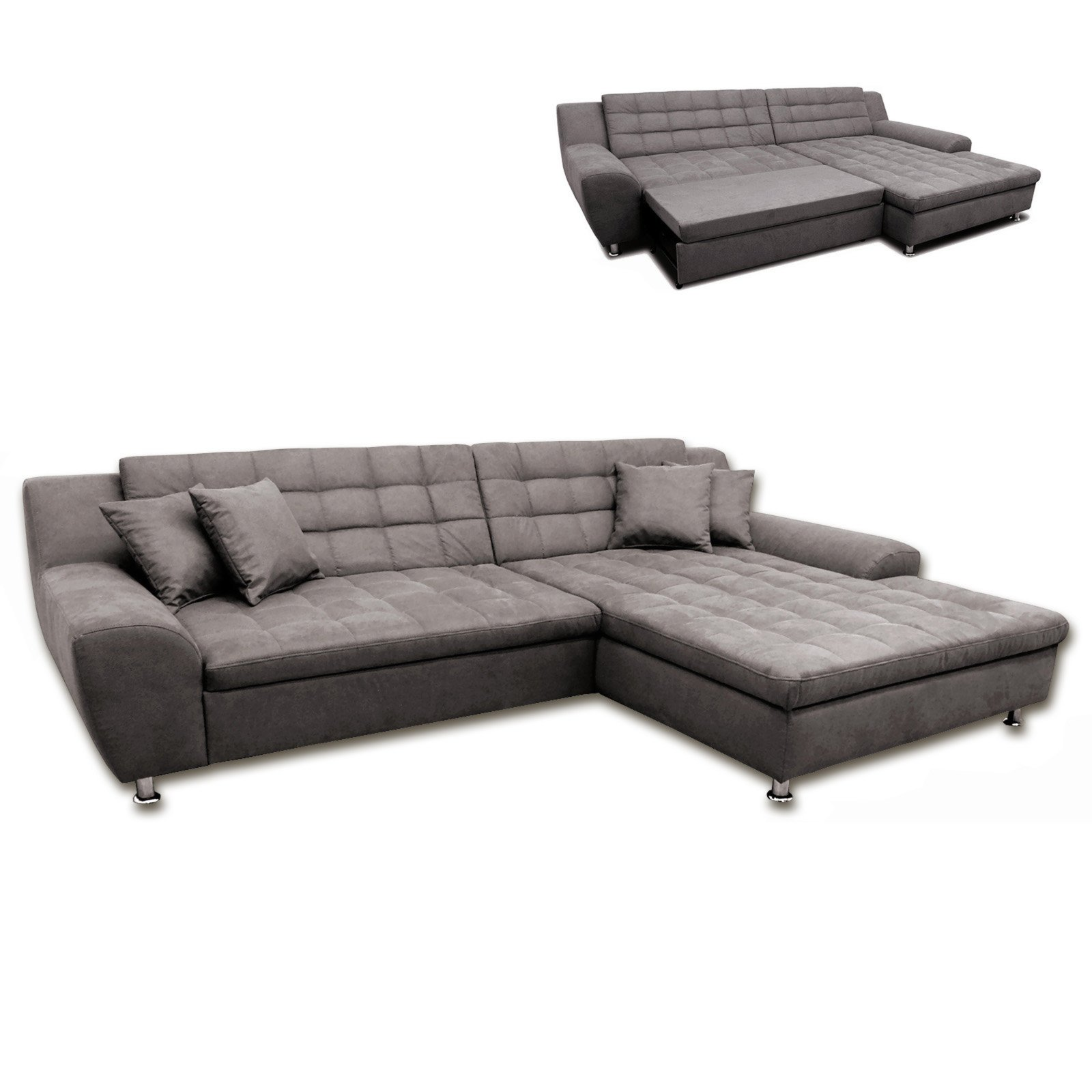 ecksofa braun liegefunktion recamiere rechts ecksofas l form sofas couches m bel. Black Bedroom Furniture Sets. Home Design Ideas