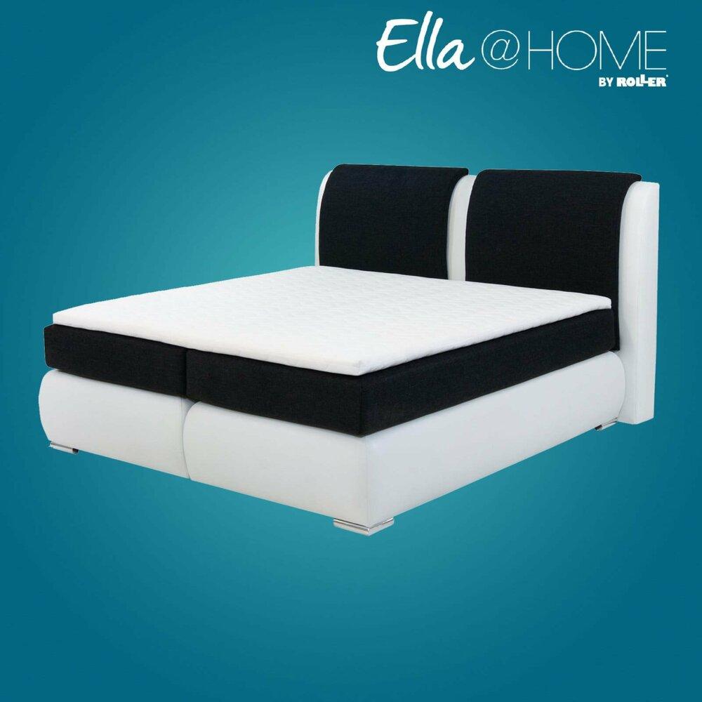 boxspringbett st tropez wei kaltschaumtopper 180x200 cm h2 ella home wohnbereiche. Black Bedroom Furniture Sets. Home Design Ideas