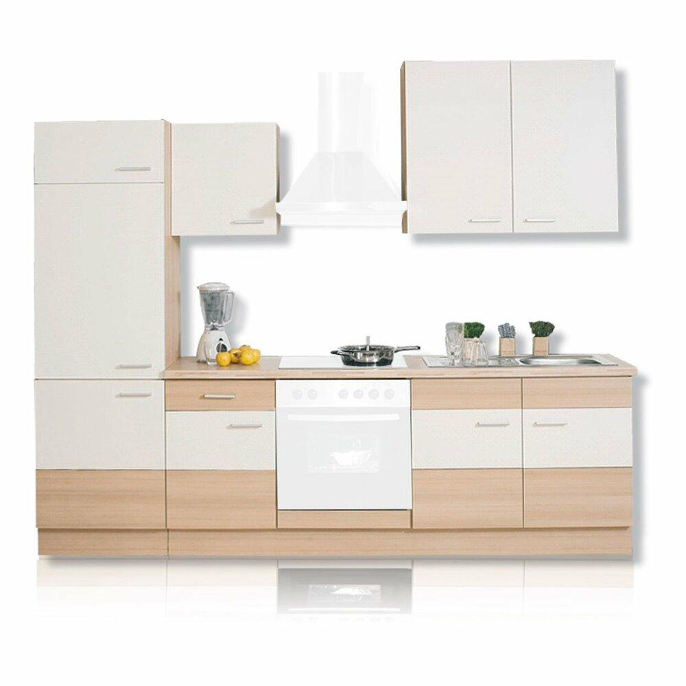 k chenblock pina pinie magnolie 270 cm k chenzeilen. Black Bedroom Furniture Sets. Home Design Ideas