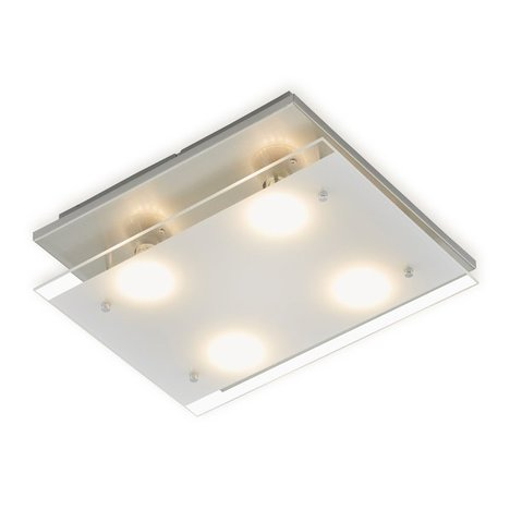 LED-Deckenleuchte - nickel-matt - 4-flammig