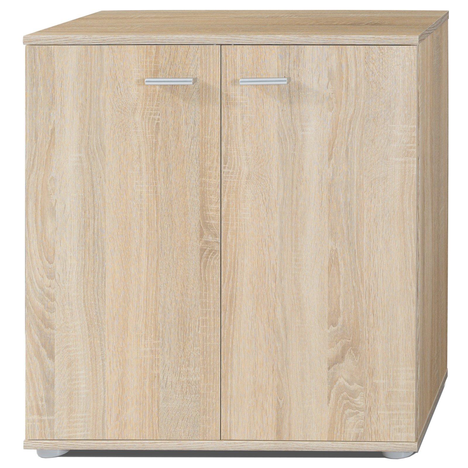 roller kommode mike 3 sonoma eiche 2 t ren 71 cm ebay. Black Bedroom Furniture Sets. Home Design Ideas