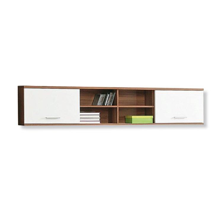 roller wandregal lupo walnuss wei 206 cm ebay. Black Bedroom Furniture Sets. Home Design Ideas