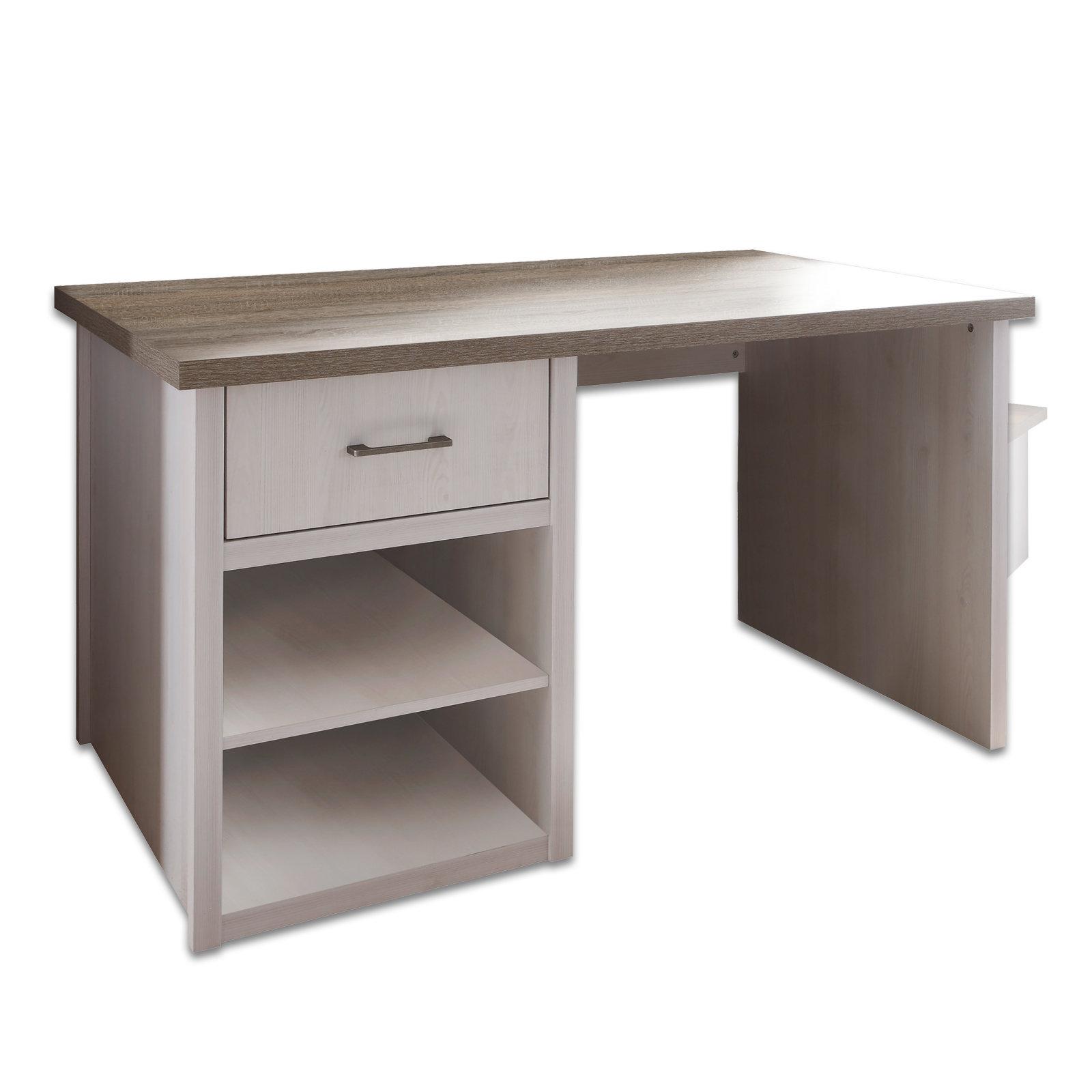 Schreibtisch Pinie Weiss Truffel 141 Cm Online Bei Roller Kaufen