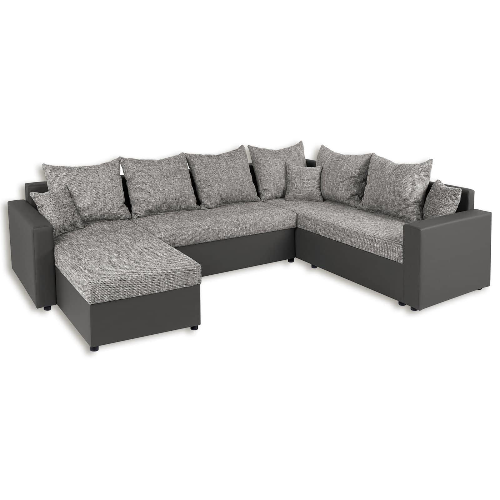 wohnlandschaft grau liegefunktion wohnlandschaften u. Black Bedroom Furniture Sets. Home Design Ideas