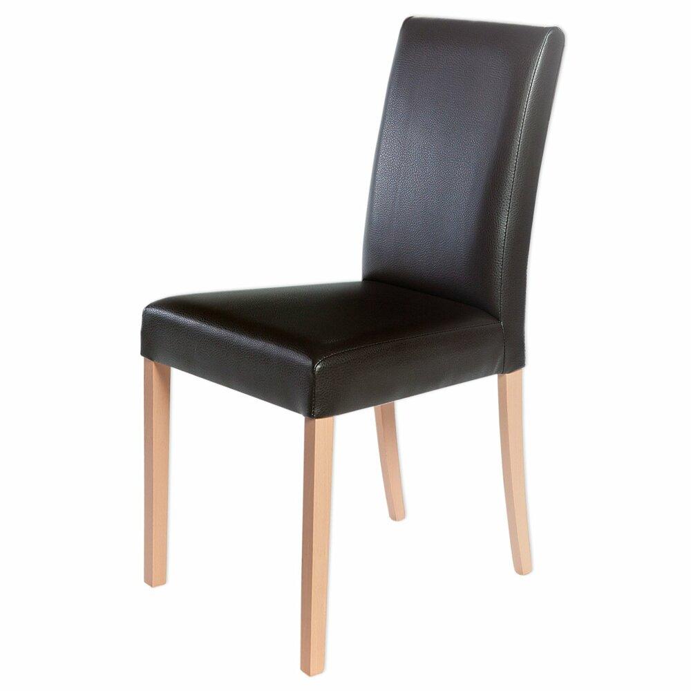 polsterstuhl ivonne buche braun kunstleder. Black Bedroom Furniture Sets. Home Design Ideas