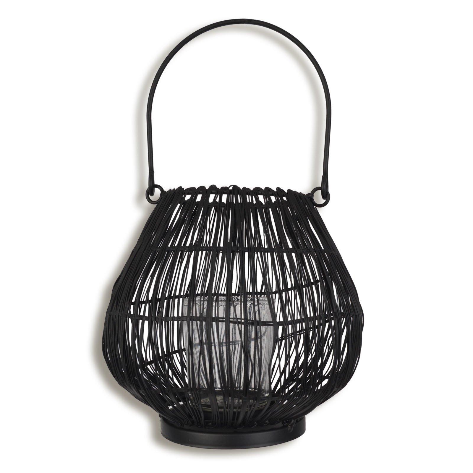 windlicht schwarz mit glaseinsatz kerzen kerzenhalter deko artikel deko haushalt. Black Bedroom Furniture Sets. Home Design Ideas