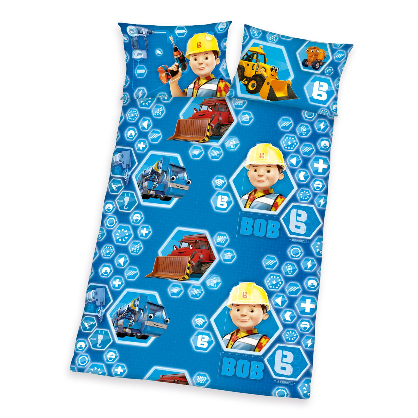 Bettwäsche Kinder 100x135 : kinder bettw sche bob der baumeister blau 100x135 cm ~ Watch28wear.com Haus und Dekorationen