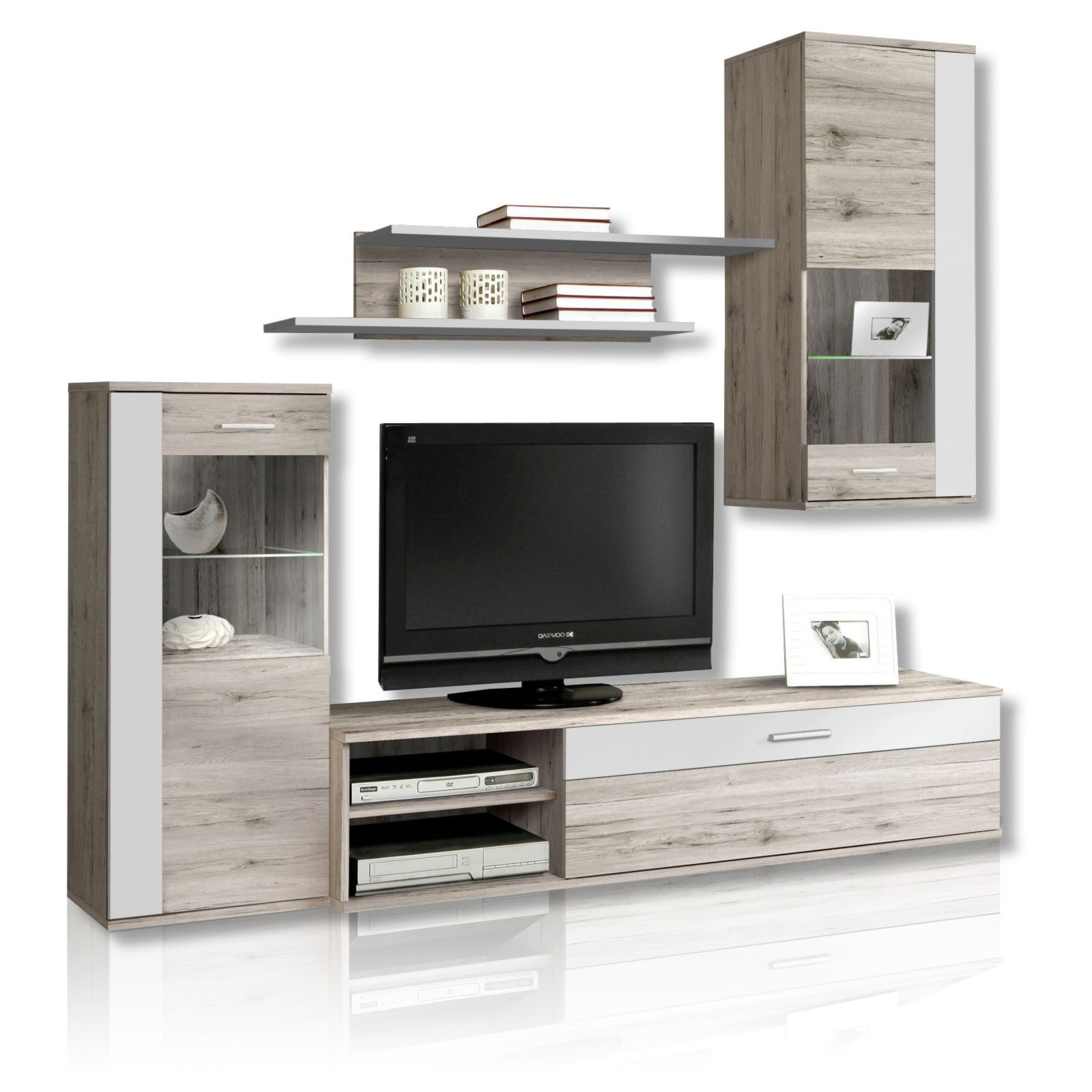 wohnwand hot shot sandeiche wei wohnw nde wohnw nde. Black Bedroom Furniture Sets. Home Design Ideas