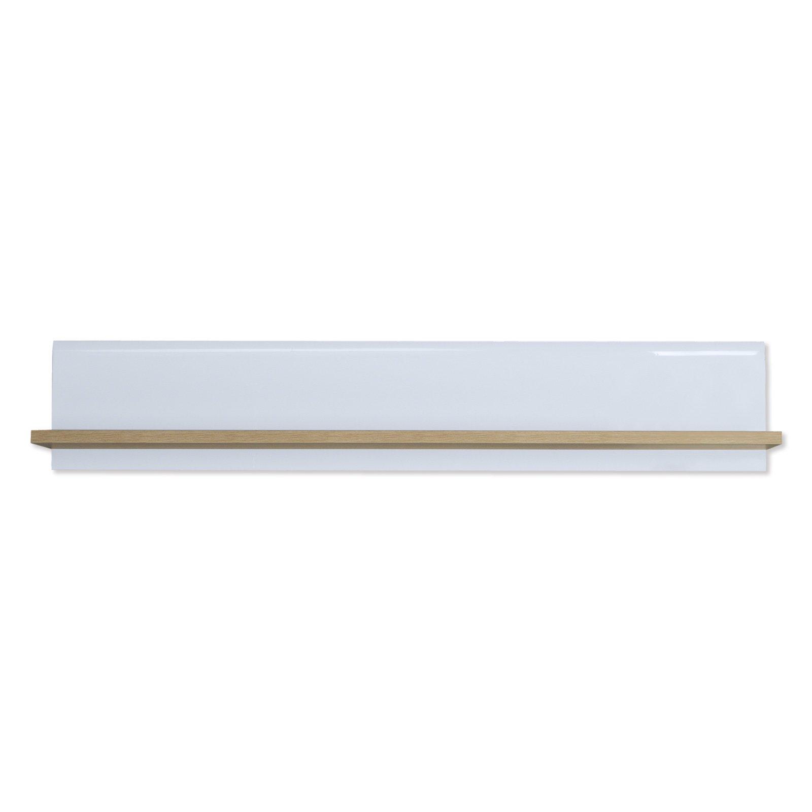 wandboard tiziano sonoma eiche wei hochglanz 144 cm. Black Bedroom Furniture Sets. Home Design Ideas