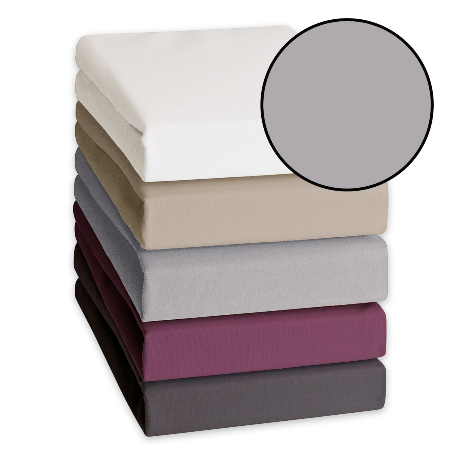 feinbiber spannbetttuch grau 140x200 cm bettlaken. Black Bedroom Furniture Sets. Home Design Ideas