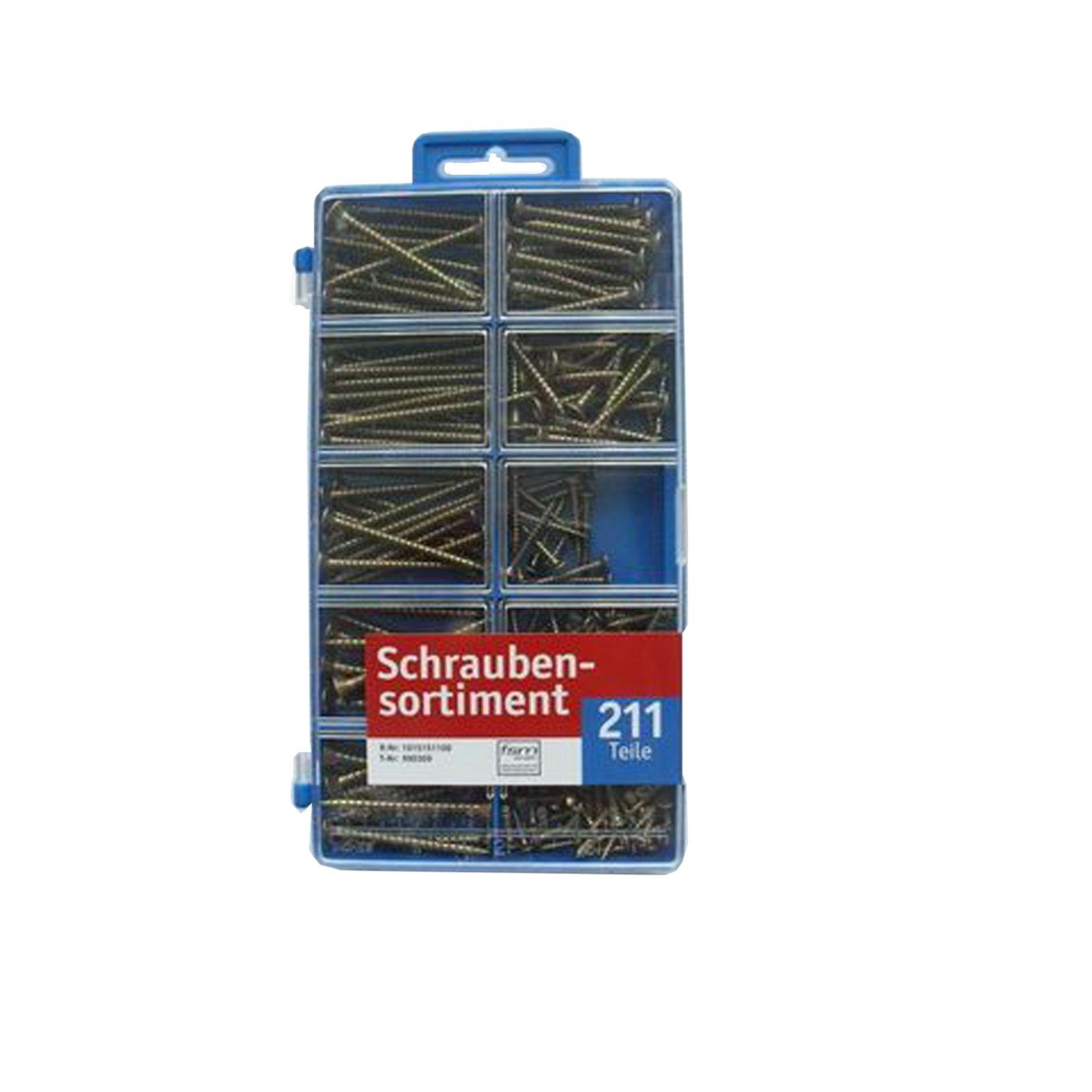 Schraubensortiment - verzinkt - 211 Teile