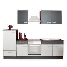Küchenblock GRETA   Graphit Hellgrau   270 Cm