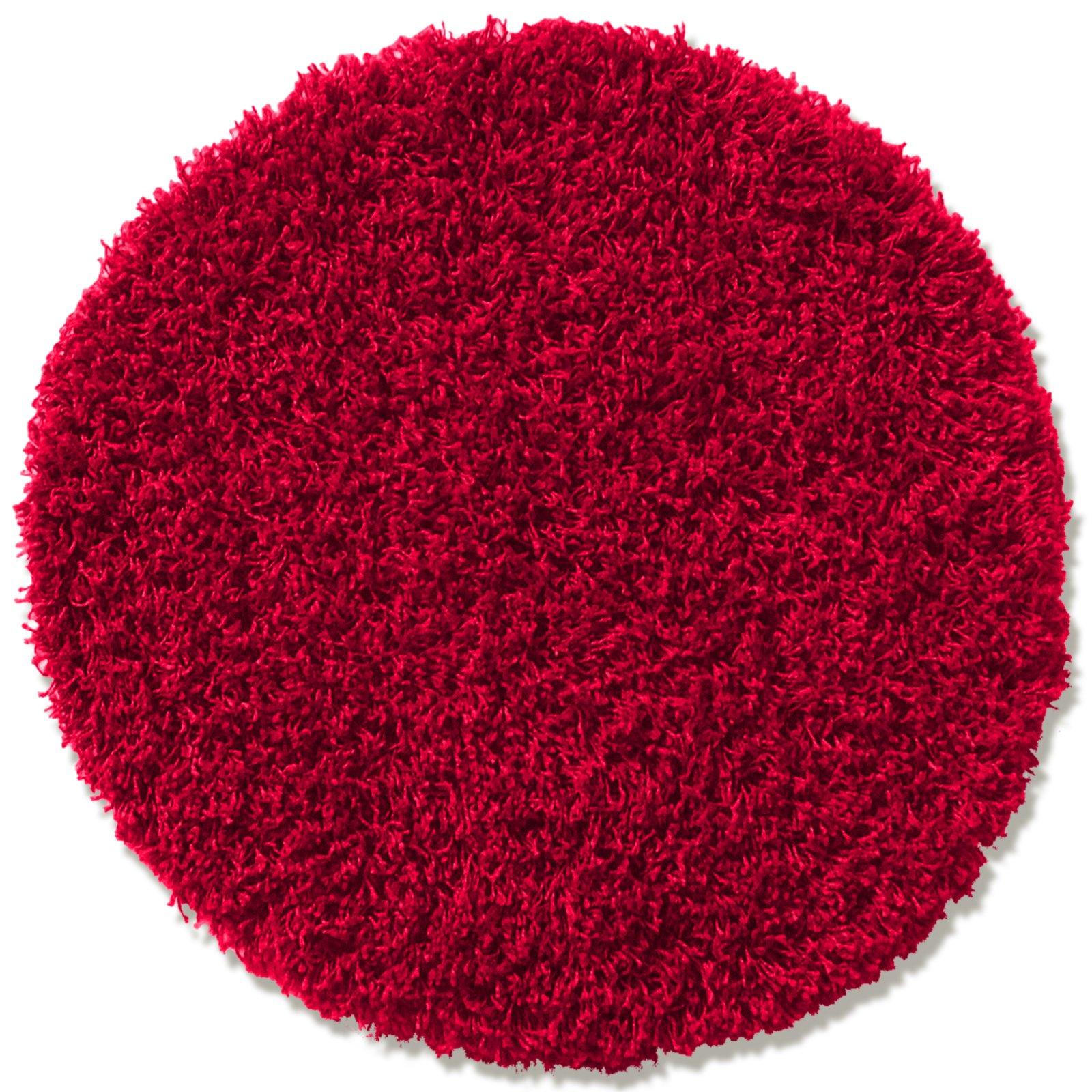teppich shaggy plus rot rund 67 cm einfarbige teppiche teppiche l ufer deko. Black Bedroom Furniture Sets. Home Design Ideas