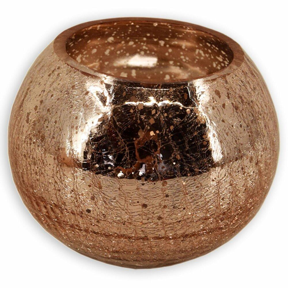 windlichtglas kupfer kugel 20 cm kerzen kerzenhalter deko wohnaccessoires. Black Bedroom Furniture Sets. Home Design Ideas