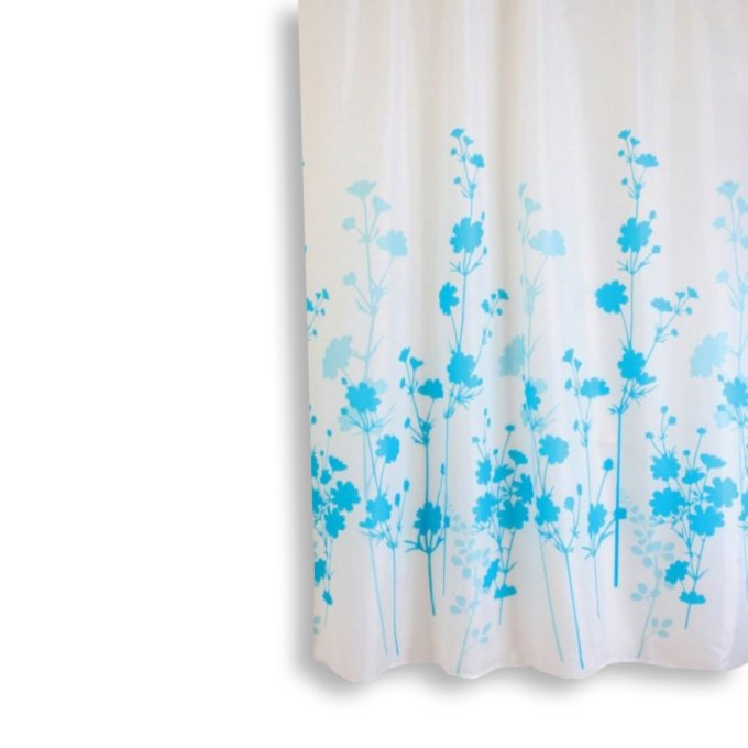 duschvorhang vitality wei blau. Black Bedroom Furniture Sets. Home Design Ideas