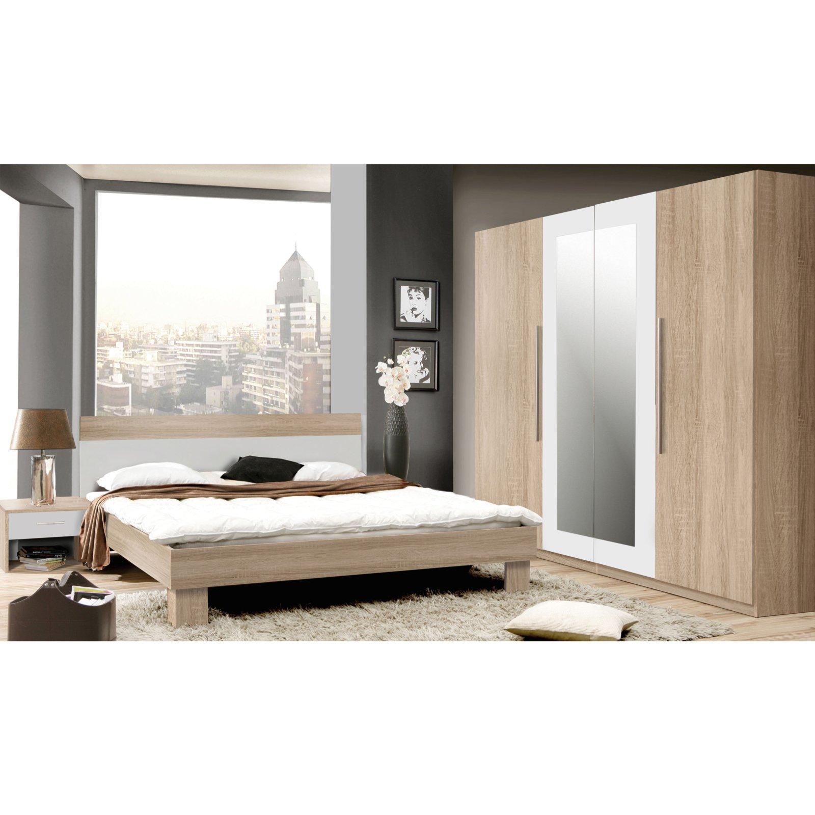 Schlafzimmer HELEN - 4-teilig - Eiche Sonoma | Schlafzimmer-Sets ...