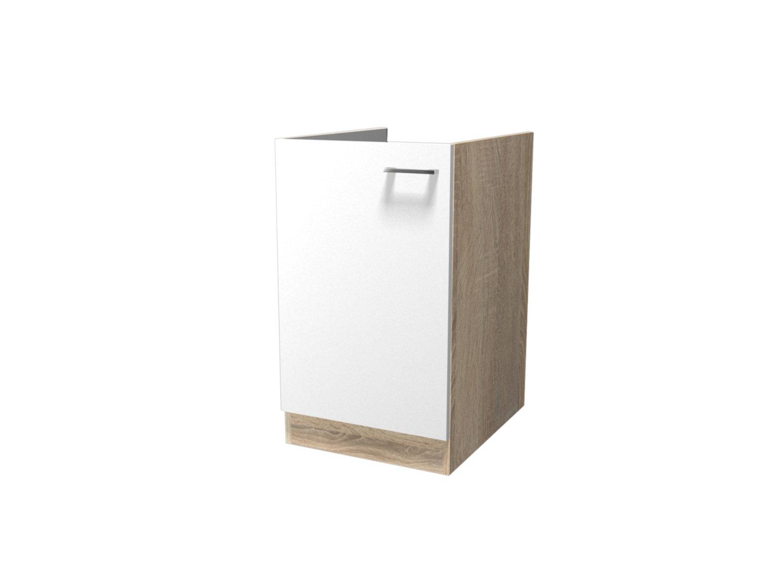 sp lenunterschrank samoa wei sonoma eiche 50 cm sp lenunterschr nke einzelschr nke. Black Bedroom Furniture Sets. Home Design Ideas