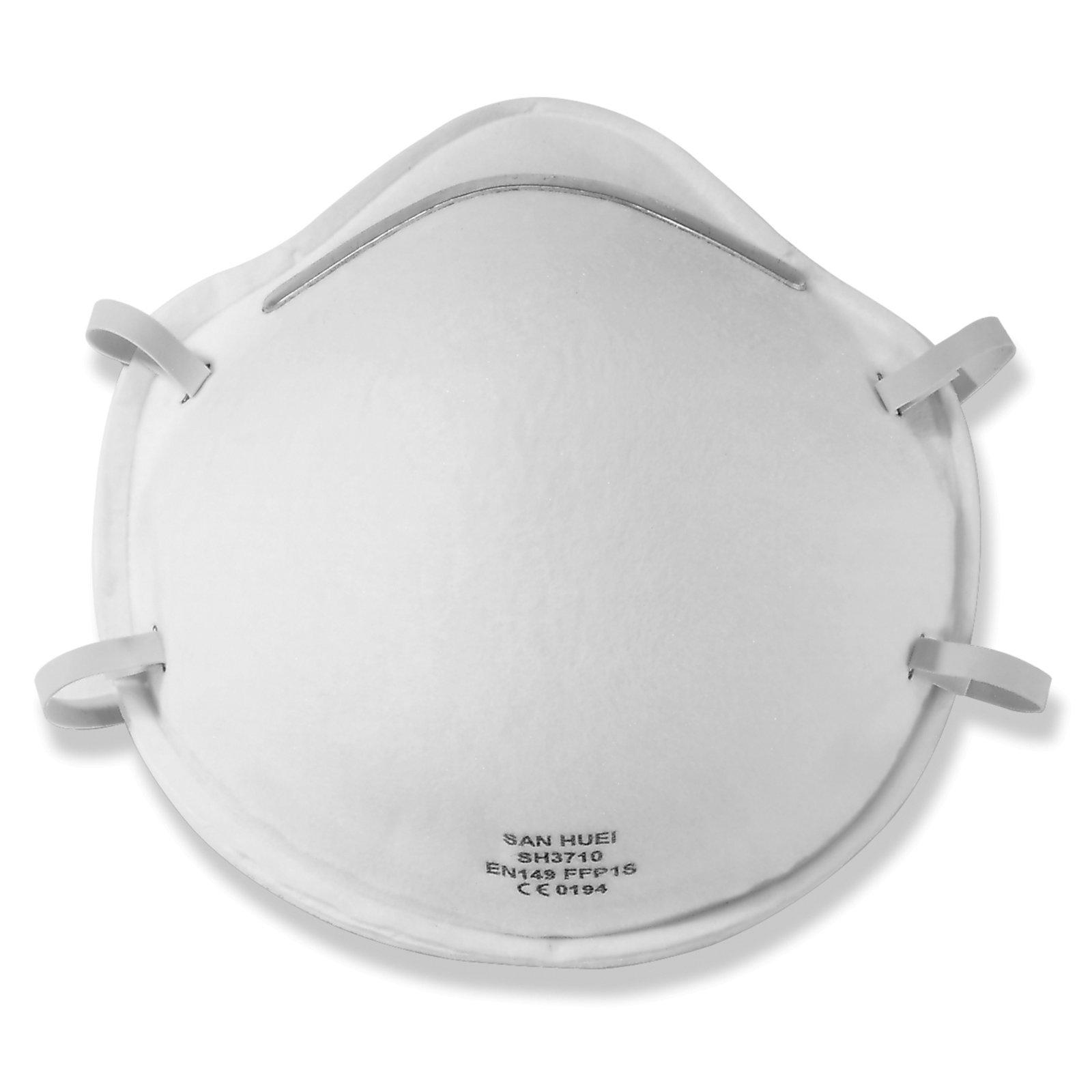 2er-Pack Schutzmasken - weiß - mit Gummizug