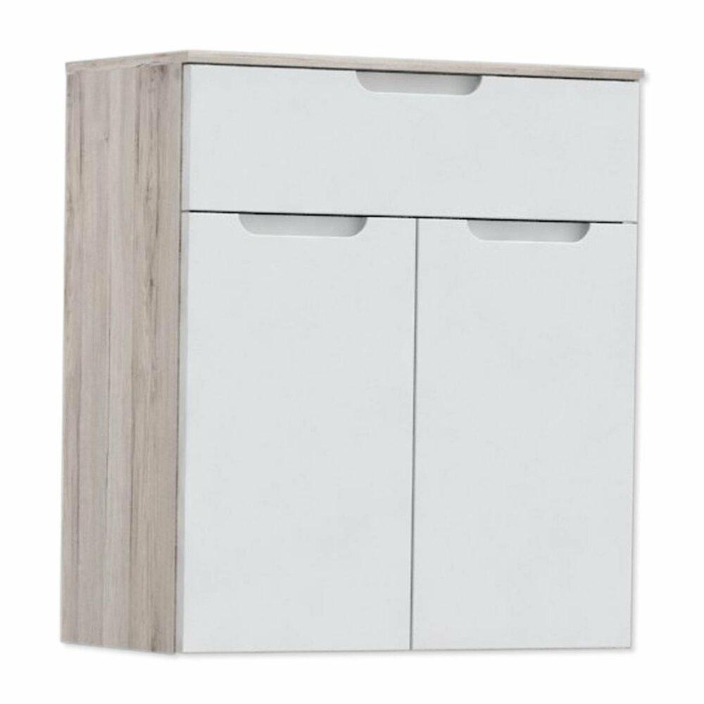 kommode moreno orek wei hochglanz sandeiche 70 cm breit kommoden sideboards m bel. Black Bedroom Furniture Sets. Home Design Ideas