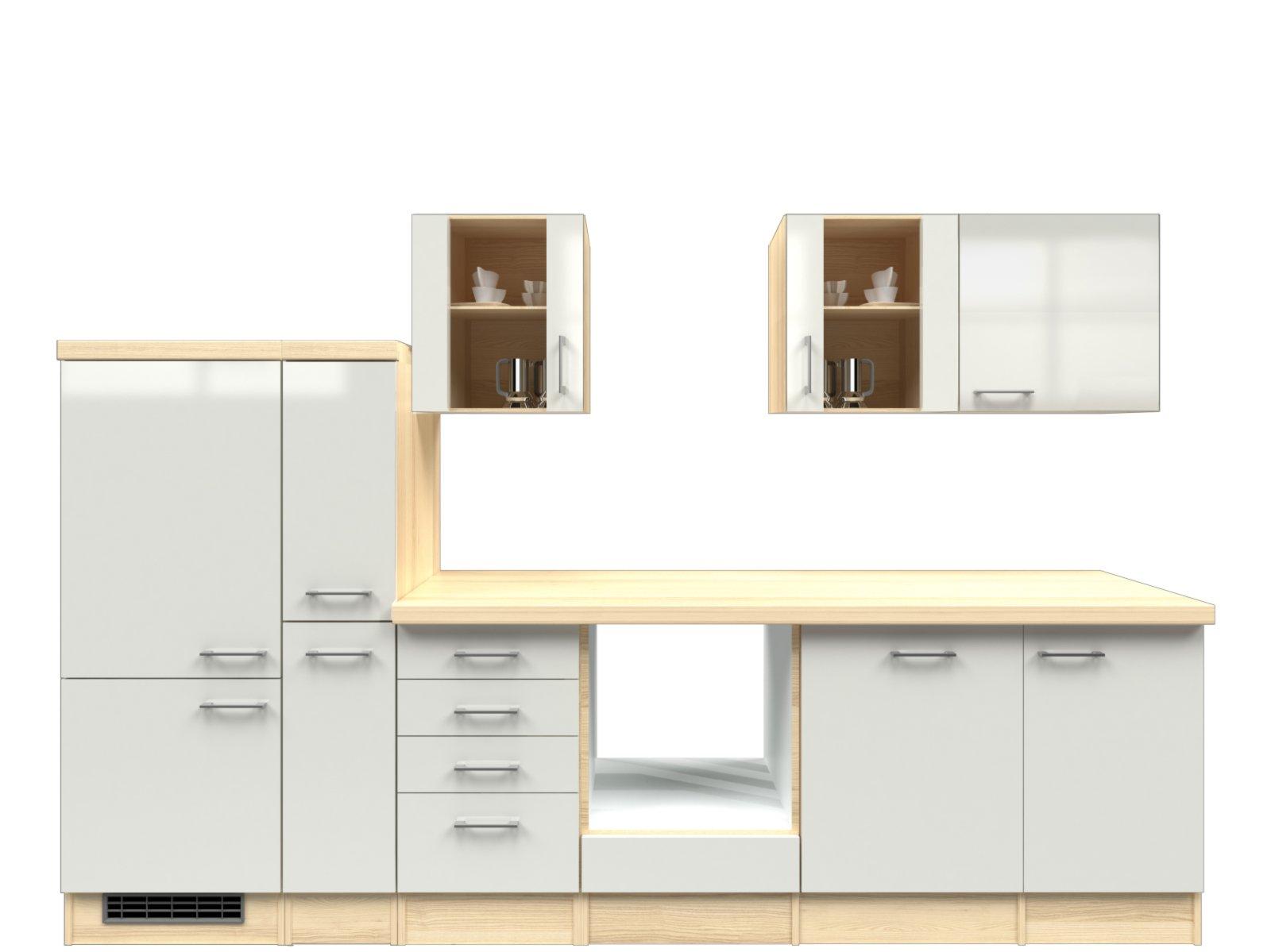 k chenblock abaco perlmutt akazie 310 cm k chenzeilen ohne e ger te k chenzeilen m bel. Black Bedroom Furniture Sets. Home Design Ideas