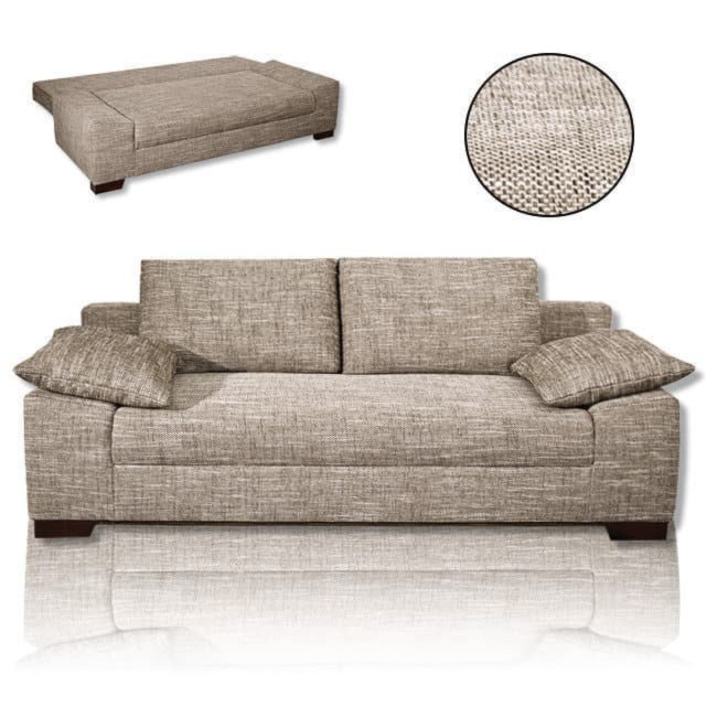 schlafsofa beige federkern schlafsofas sofas. Black Bedroom Furniture Sets. Home Design Ideas