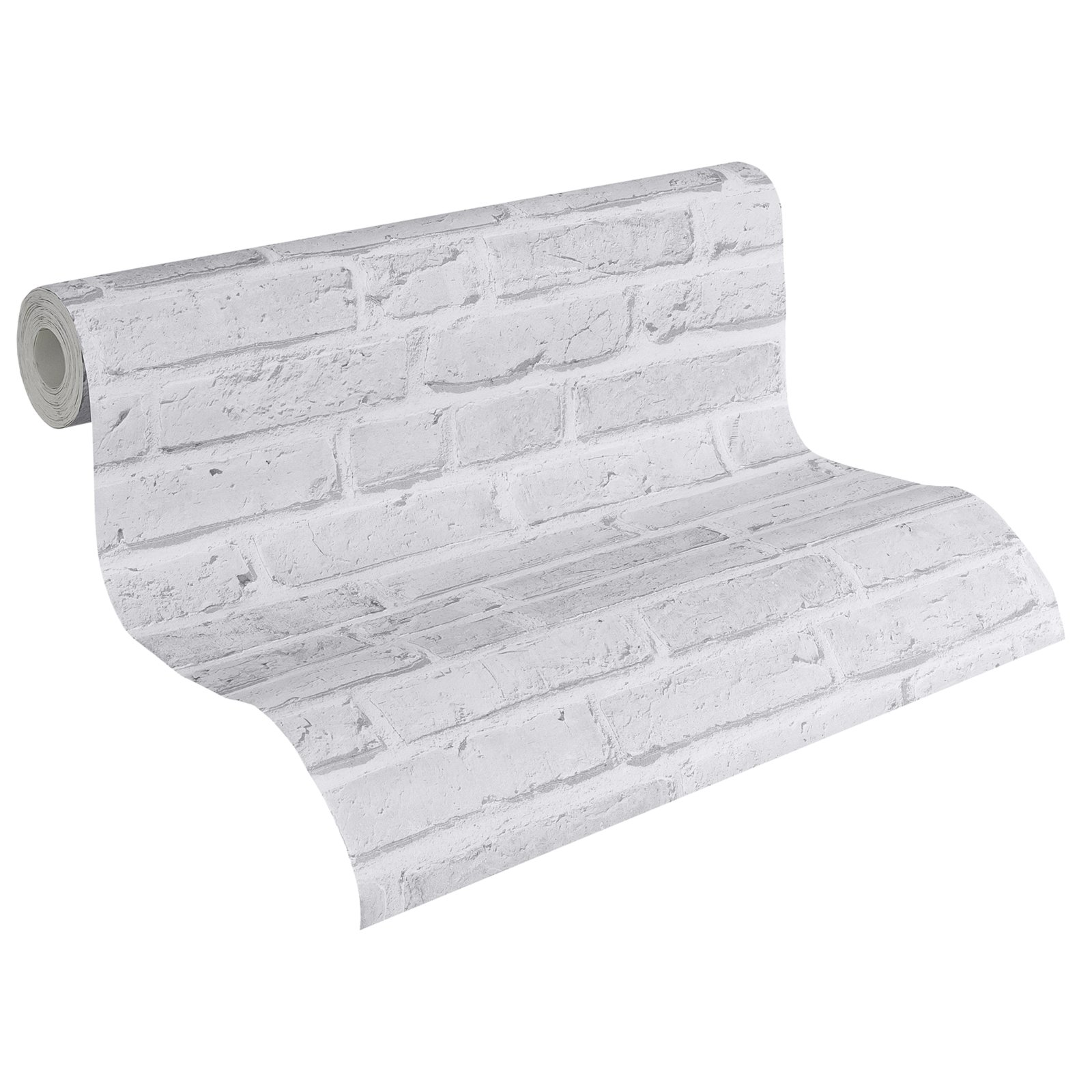 A s creation vliestapete brick stein grau 10 meter for Roller tapeten