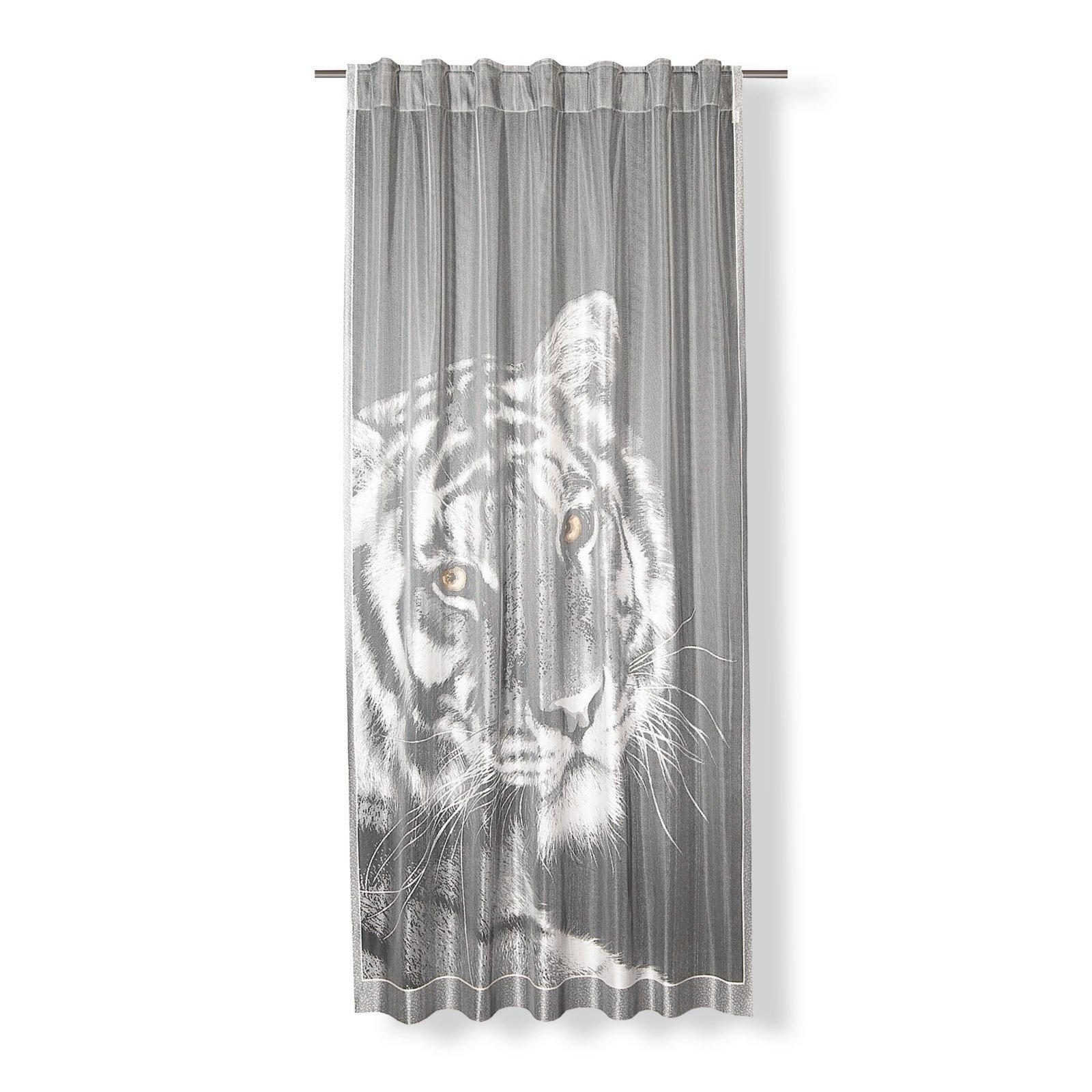 roller vorhang tiger schlaufenschal 140x245 cm ebay. Black Bedroom Furniture Sets. Home Design Ideas