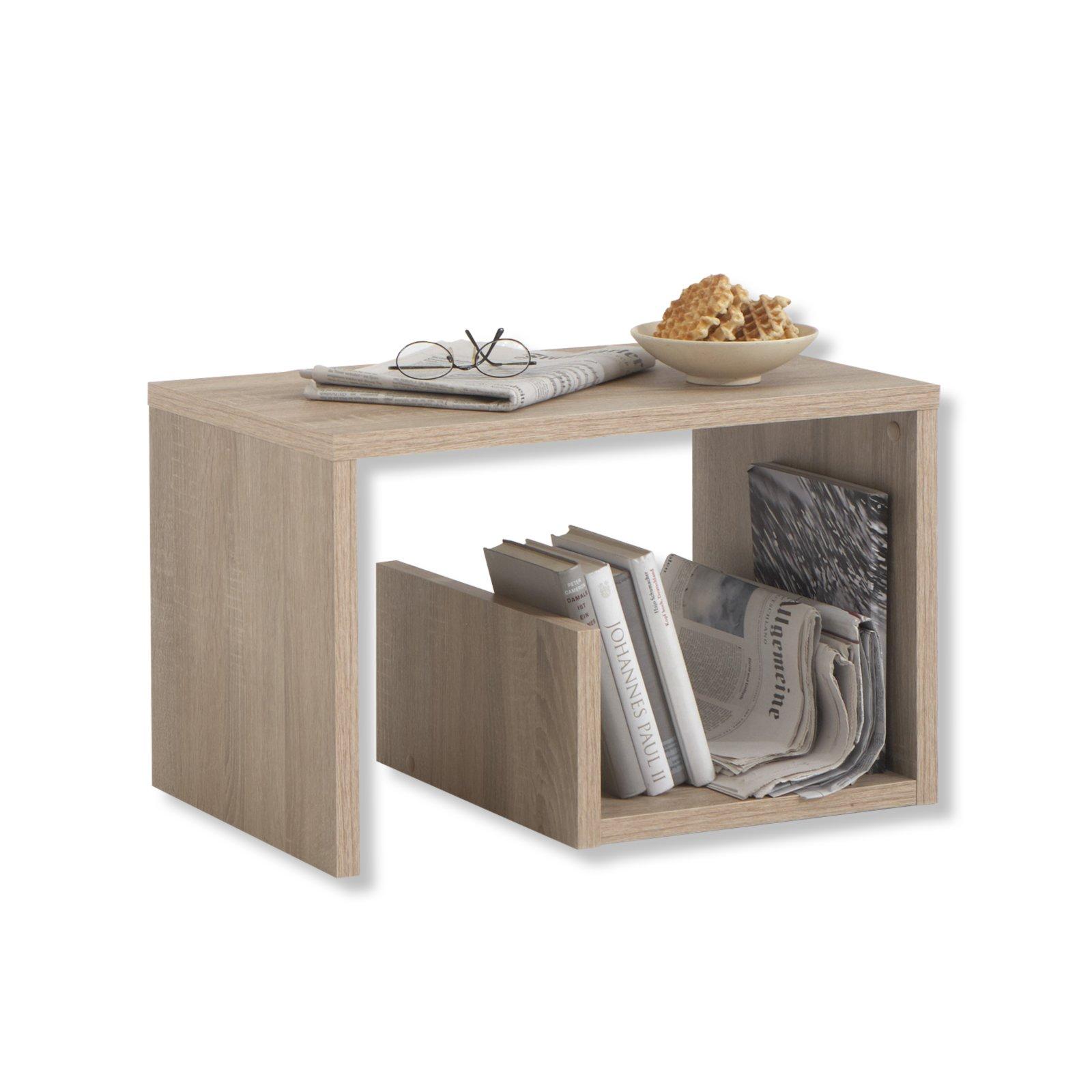 beistelltisch mike sonoma eiche 38 cm h he beistelltische wohnzimmer wohnbereiche. Black Bedroom Furniture Sets. Home Design Ideas