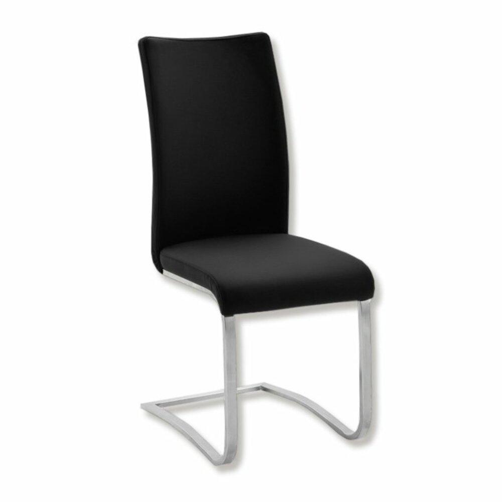schwingstuhl arco i schwarz kunstleder freischwinger st hle hocker m bel roller. Black Bedroom Furniture Sets. Home Design Ideas