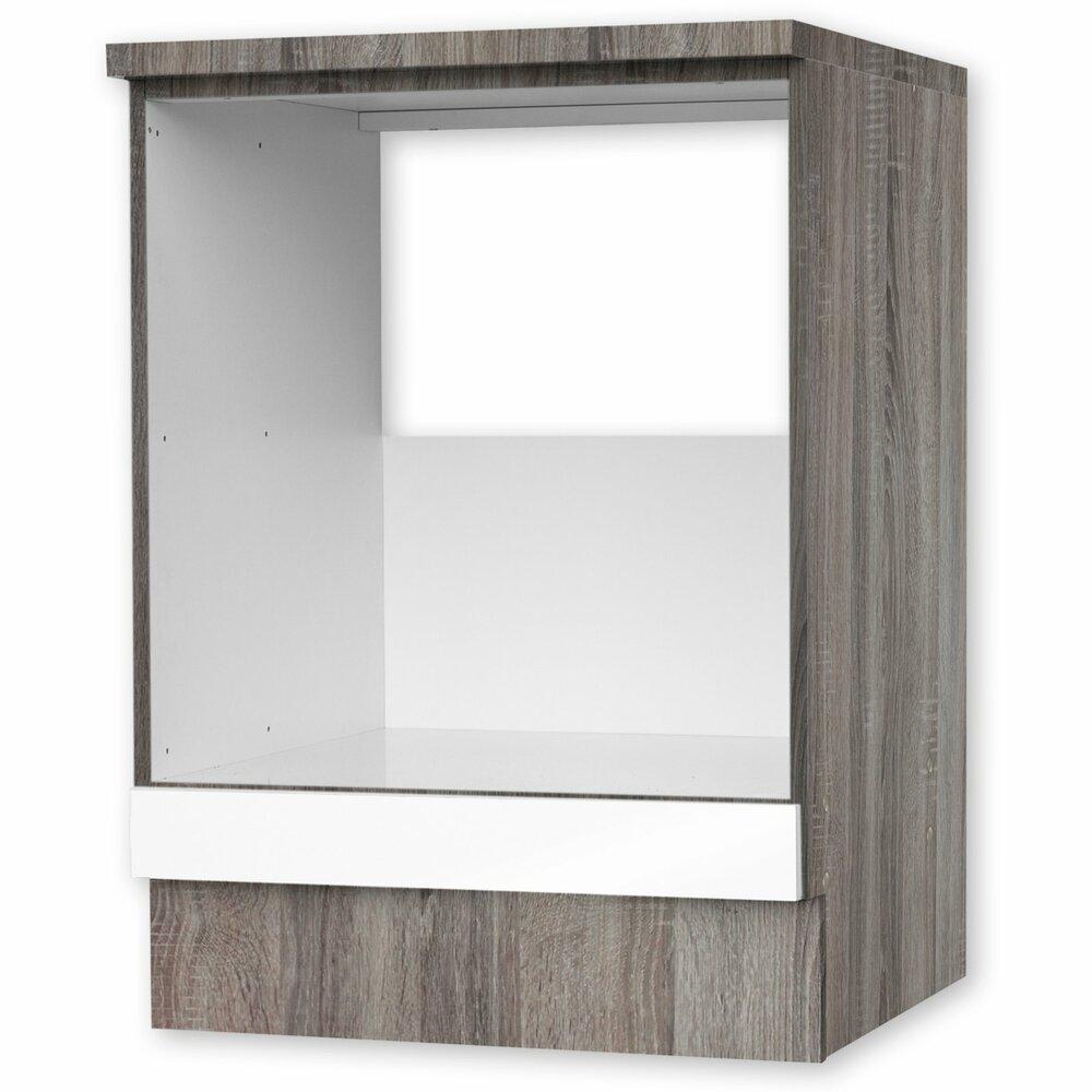 herdumbauschrank julia wei hochglanz tr ffel 60 cm umbauschr nke einzelschr nke. Black Bedroom Furniture Sets. Home Design Ideas