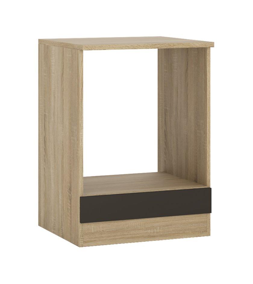 herdumbau fox anthrazit sonoma eiche 60 cm breit umbauschr nke einzelschr nke. Black Bedroom Furniture Sets. Home Design Ideas