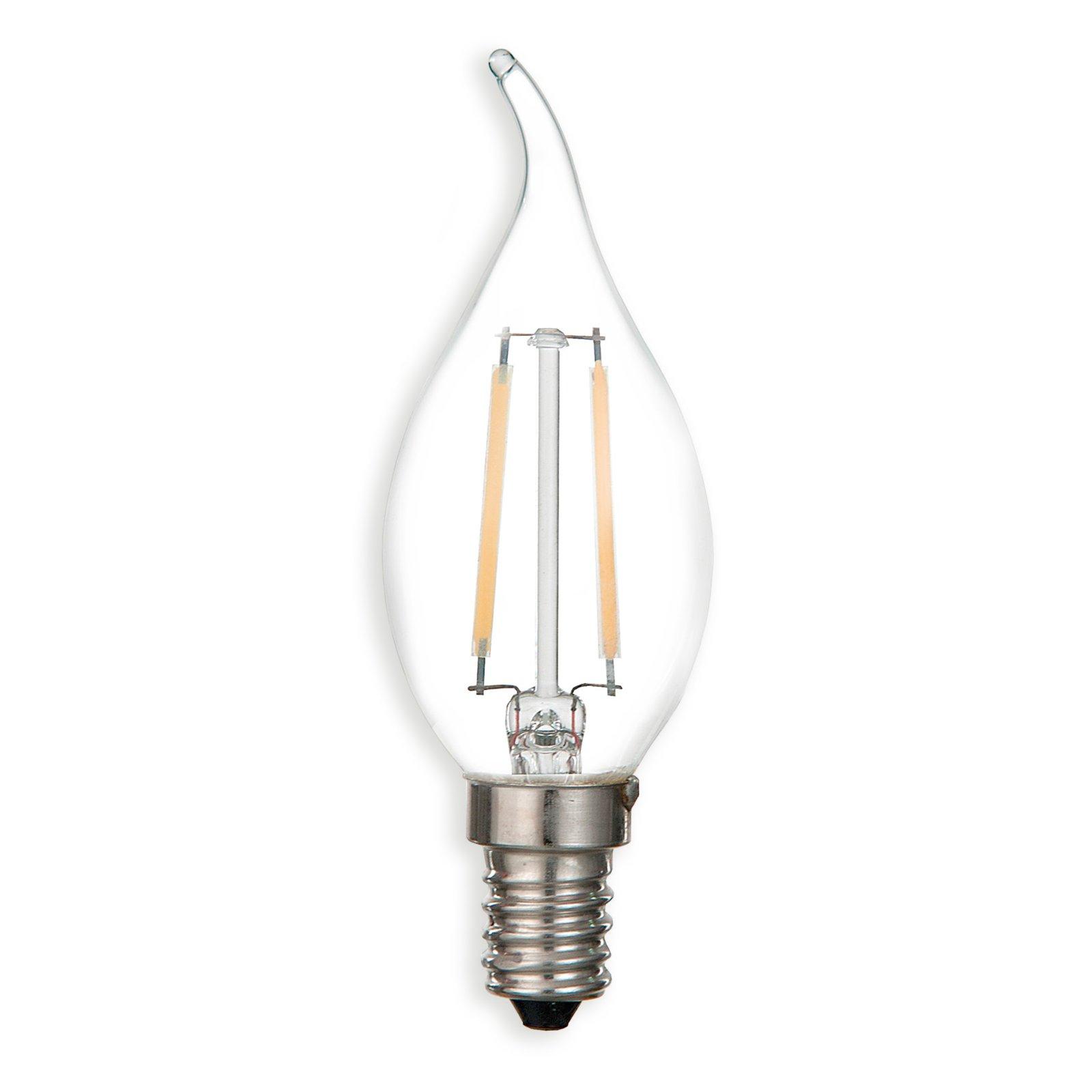 led windsto kerze filament e14 2 watt warmwei led leuchtmittel leuchtmittel. Black Bedroom Furniture Sets. Home Design Ideas