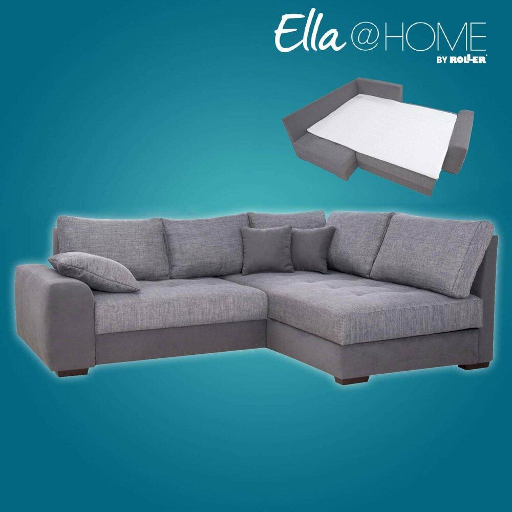 boxspringsofa grau schlaffunktion recamiere rechts ecksofas l form sofas couches. Black Bedroom Furniture Sets. Home Design Ideas