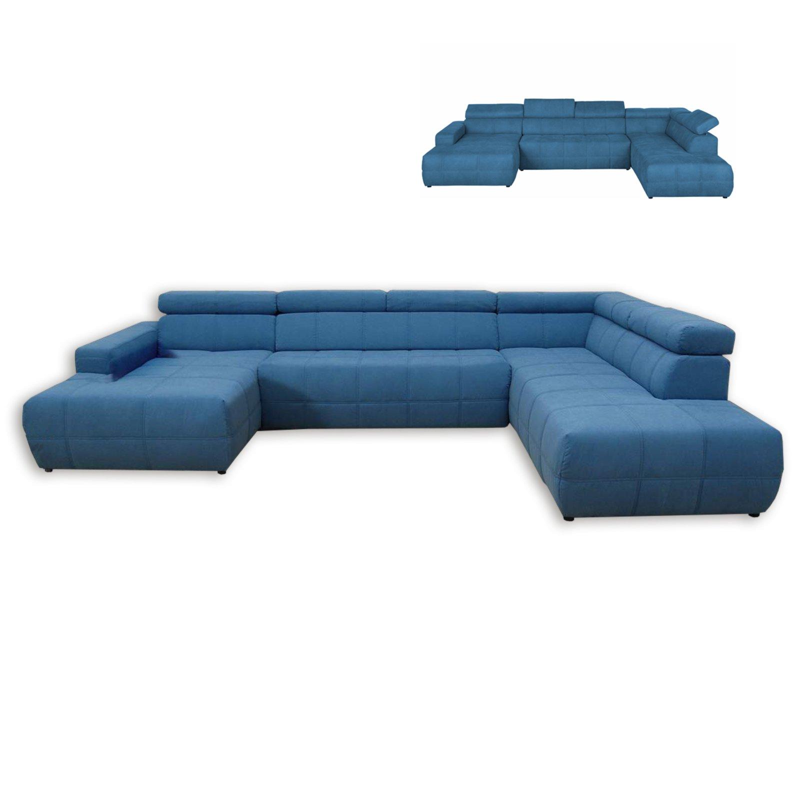 wohnlandschaft t rkis recamiere links mit funktionen wohnlandschaften u form sofas. Black Bedroom Furniture Sets. Home Design Ideas