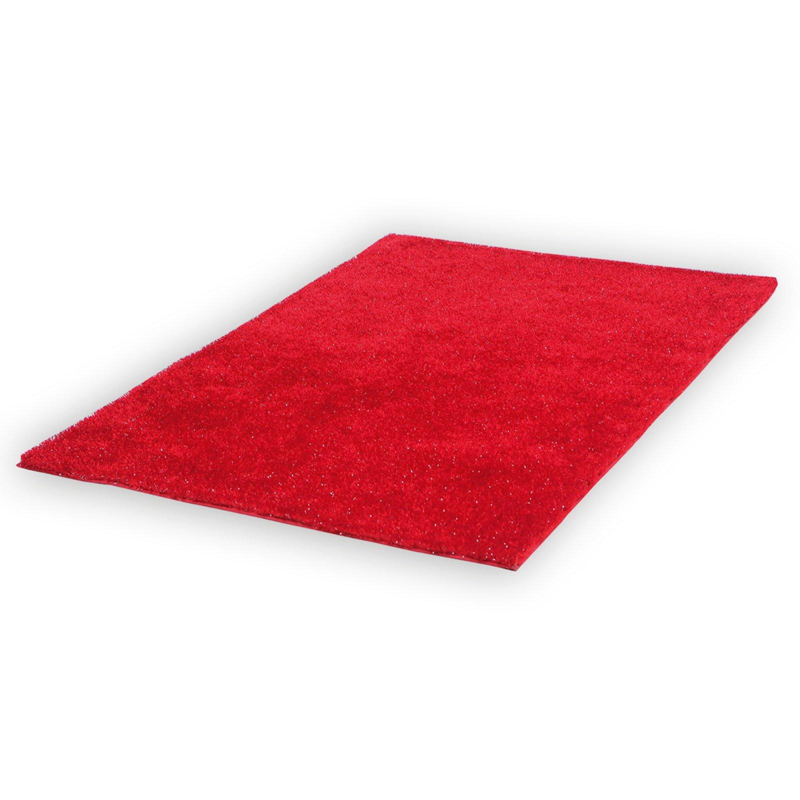 Teppich SHAGGY STELLA  rot  Glanzfäden  120×170 cm
